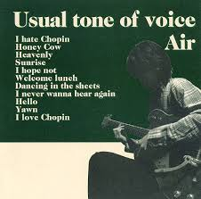 AIR / Usual tone of voice